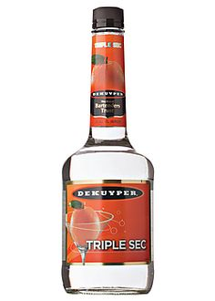 Dekuyper Triple Sec ~~ my FAVE triple sec!!! Makes my margaritas & martinis taste sooooooooooooo much better!!! :) :) :)
