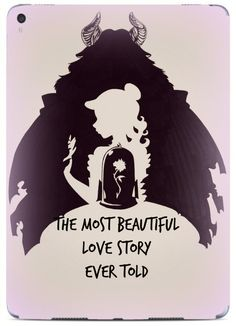 "Princess and The Beast Silhouette Love Quote Design Print Image Pattern iPad Pro (9.7"") VINYL STICKER DECAL SKIN by Trendy Accessories available at https://www.amazon.com/dp/B06VXM9P54 #vinyldecalsticker #ipadpro #ipadproaccessories #beautyandthebeast"