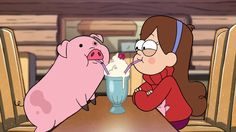 Mabel and Waddles drinking a shake - Gravity Falls: Mabel Pines Photo (37439161) - Fanpop