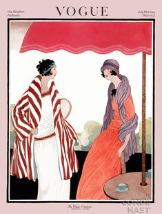 Vogue Cover July 1922 by Helen Dryden