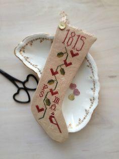 Free Valentine stocking cross stitch from Plum Street Samplers Free Cross Stitch Charts, Cross Stitch Freebies, Cross Stitch Heart, Cross Stitch Fabric, Cross Stitch Samplers, Cross Stitching, Cross Stitch Embroidery, Cross Stitch Designs, Cross Stitch Patterns