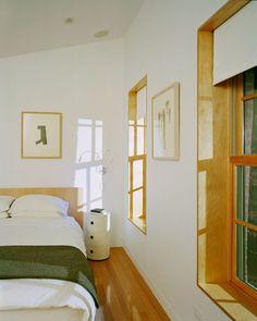 window casings...Boerum Hill House, Brooklyn - modern - bedroom - new york - Jordan Parnass Digital Architecture