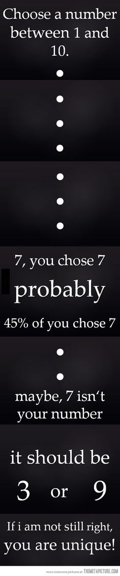 Choose a number…I chose 5. Haha