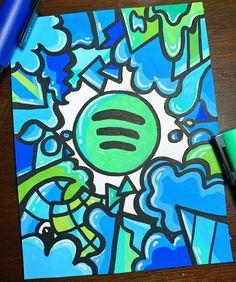 Me gusta, 32 comentarios - Doodle Artist Easy Graffiti Drawings, Graffiti Doodles, Graffiti Designs, Cool Art Drawings, Colorful Drawings, Graffiti Art, Cute Doodle Art, Doodle Art Designs, Arte Disney