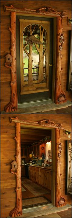 Welcome Friends and Family into Your Home with an Amazing Custom Carved Wooden Door!