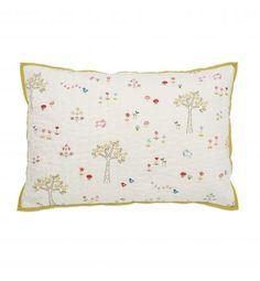 littleauggie decorative pillow - rabbit patch