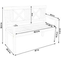 bench dimensions back - Google Search