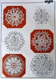 Crochet Lace Daisy and Pattern Crochet Stone, Love Crochet, Irish Crochet, Crochet Flowers, Crochet Lace, Crochet Doily Diagram, Crochet Motif Patterns, Crochet Chart, Crochet Circles