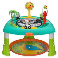 Babies will love playing with the Sit, Spin & Stand Transforming Seat & Activity Table from Infantino. Little ones can spin 360 degrees while exploring 6 interactive toys including light up buttons that activate music and sound effects. Baby Activity Table, Activity Centers, Play Activity, Fisher Price, Mobile Musical, Baby Bouncer, Baby Bassinet, Cleaning Toys, Play Table