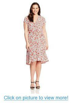 b94d0ec40cc Anne Klein Women s Plus-Size Mini Floral Dress  Anne  Klein  Womens