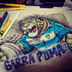 Garra Puma Rugby Argentina Dibujo Rugby Checho Perrone Kevingston Garra, Pumas, Champion, Crochet, Illustration, Argentina, Caricatures, Drawings, Tigers
