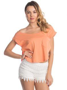 Ženska Bombažna Majica COLLEZIONE #Majica #t_shirt #summer_outfit #summer_style #lace_pants #lace_shorts #women_fashion