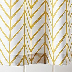 Mustard Feather Shower Curtain | Serena & Lily