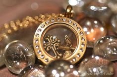 Our cute gold mini locket with crystals
