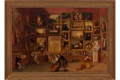 """Detroit Institute of Arts displays iconic work of American art """"Gallery of the Louvre"""" by Samuel F. B. Morse"""