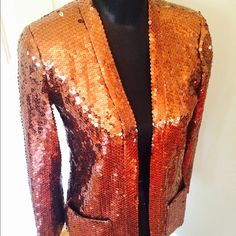 Sensational sequin vintage jacket I love this and have worn it in shows, but I am ready to set it free! This is in decent shape for its age – 60s or 70s… But there are a couple spots where the sequins have made sort of a bald spot. It really doesn't matter – it is not noticeable, and this is so fantastic that you will never care! Will fit most sizes. Jackets & Coats