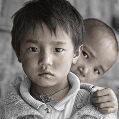 Dolkar 5 & Tashi 6, Dharamsala, India by Phil Borges