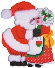 Santa Kissing Mrs. Claus {S}