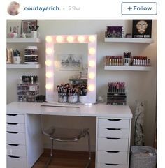 all white makeup vanity. All white make up vanity home accessory chair tumblr room bedroom makeup table