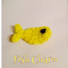 Yellow Fish Charm made on fork