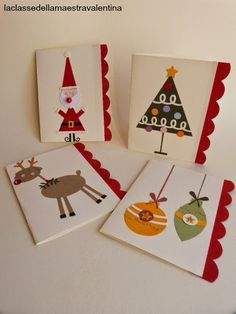 sete modelos cartao natal artesanal presentear amigos familiares papel scrapbook cartolina (7)