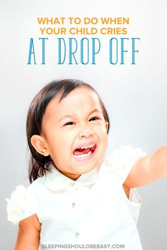 Do you feel terrible when your child cries at drop off? Whether at day care, preschool or even with a nanny, saying goodbye to your child in the mornings can be stressful for both parent and child. Learn how to cope with your child's separation anxiety and make drop offs smoother. Important tips for back to school! Even includes a FREE bonus chapter of Parenting with Purpose, complete with 20 actionable items you can apply right away! #parenthood