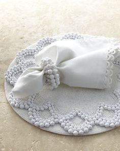 -3PLR Kim Seybert Beaded Table Linens