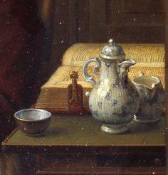Eduard Karl Gustav Lebrecht Pistorius: Old woman having coffee