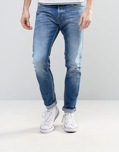 Get this Diesel's skinny jeans now! Click for more details. Worldwide shipping. Diesel Tepphar Skinny Jeans 859R Mid Light Wash - Blue: Jeans by Diesel, Stretch denim, Mid-light wash, Low rise, Concealed fly, Functional pockets, Skinny fit - cut closely to the body, Machine wash, 98% Cotton, 2% Elastane, Our model wears a W 32 Regular and is 185.5cm/6'1 tall. Founded by Renzo Rosso in 1978, Diesel has since become a part of global youth culture, with its pioneering new styles and creative…