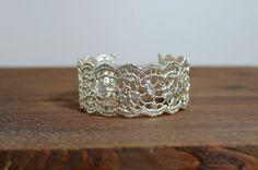 silver lace bracelet silver bracelet cuff forearm by MyElesi Lace Bracelet, Wedding Bracelet, Wedding Rings, Silver Bracelets, Silver Earrings, Cuff Bracelets, Luxury Gifts For Her, Lace Cuffs, Metal Jewelry