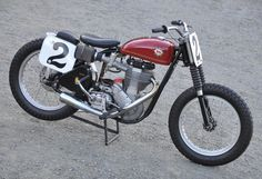 Dick Mann racebike restored by the two-time Grand National Champion,c.1965 BSA Gold Star Flat Tracker Engine no. 123
