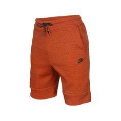 Nike Men's Tech Fleece 1mm Shorts ($70) ❤ liked on Polyvore featuring men's fashion, men's clothing, men's activewear, men's activewear shorts, orange, mens activewear shorts and mens activewear