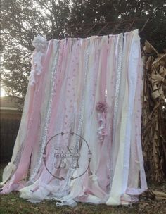 Shabby Chic Curtains Vintage Rachel Ashwell Fabric Ribbon | Etsy