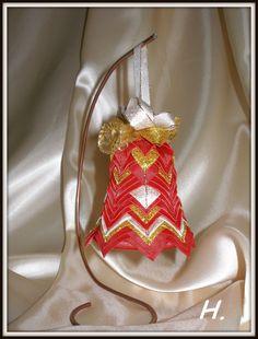 červeno- zlatý zvonek