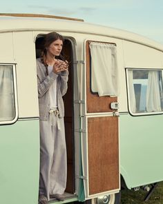 TOAST Late Summer Collection Lookbook - a mint green caravan and a grey loungewear dream!