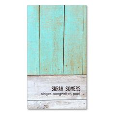 Vintage Country Nature Rustic Turquoise Wood Business Cards. This is a fully customizable business card and available on several paper types for your needs. You can upload your own image or use the image as is. Just click this template to get started!