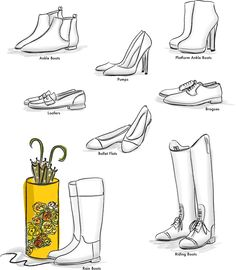 """Fall Footwear - Shoe Dictionary  [photo from """"Ever & Wright"""" blog]"""