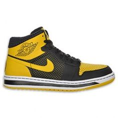 Air Jordan Alpha 1 Black Yellow White 392813-003