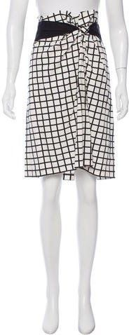 Dries Van Noten Gingham Knee-Length Skirt
