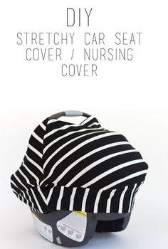 do it yourself divas: DIY Stretchy Car Seat Cover / Nursing Cover