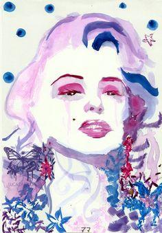 marilyn monroe #marilynmonroe in watercolor.