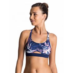 Womens Keep It Roxy Sporty Bra Separate Bikini Top