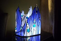 lamp 004.JPG - Special lamp for a good friend's birthday - Gallery - Stained Glass Town Square
