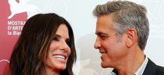 George Clooney et Sandra Bullock à Venise en 2013 pour la présentation de «Gravity» (REUTERS/Alessandro Bianchi).
