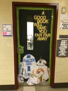 Trendy Ideas For Classroom Door Decorations Reading Star Wars Space Classroom, Classroom Decor Themes, Classroom Door, Google Classroom, Future Classroom, Classroom Ideas, Library Decorations, Classroom Design, Science Classroom