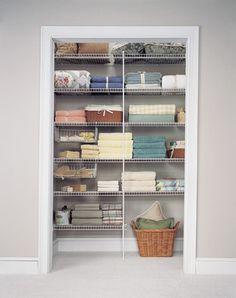 Bathroom & Linen Closet Pictures: Linen Closet Shelving