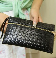 2014-Womens-Fashion-Black-Faux-Leather-Embossing-Clutch-Evening-Mini-Bag-Purse-J