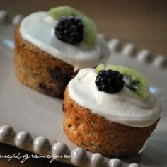Kiwi Blackberry Breakfast Cupcakes are a healthy and sweet tooth satisfying way to start your day.