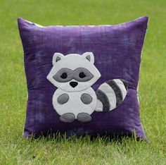 The Masked Raccoon is another new friend in the collection of forest animals that are showing up in our studio. This listing is for the PDF pattern to make the pillow. The pattern contains full color
