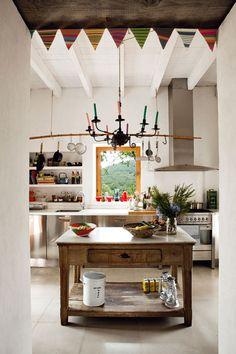 """ldellfood-design:  """"renovated farmhouse kitchen, ibiza. via the style files.  """""""